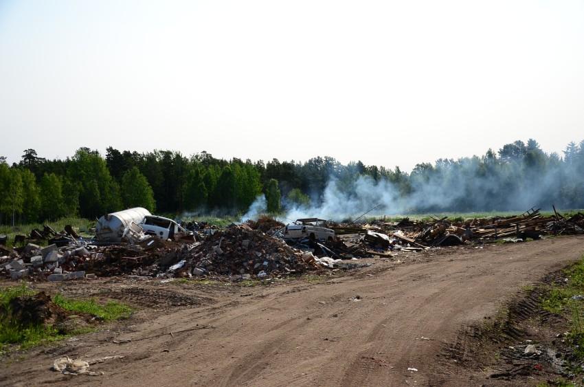 Валаам. мусорка